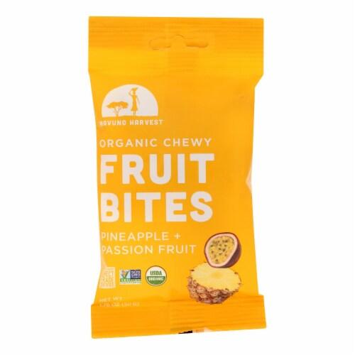 Mavuno Harvest - Organic Fruit Bites - Pineapple Passionfruit - Case of 8 - 1.76 oz. Perspective: front