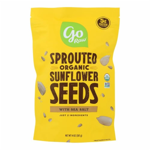 Go Raw Sprouted Seeds, Sunflower With Celtic Sea Salt  - Case of 6 - 14 OZ Perspective: front