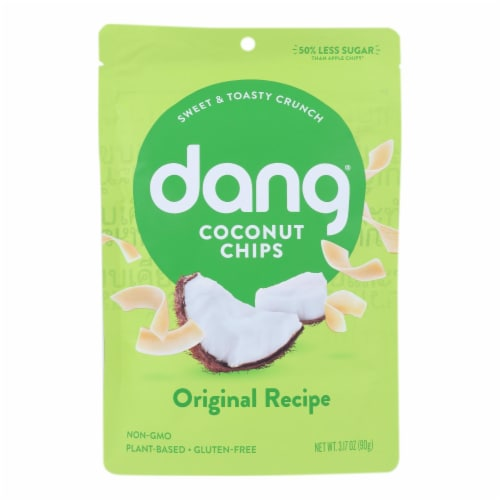 Dang - Toasted Coconut Chips - Original Recipe - Case of 12 - 3.17 oz. Perspective: front