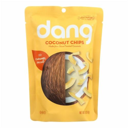 Dang - Toasted Coconut Chips - Caramel Sea Salt - Case of 12 - 1.43oz. Perspective: front