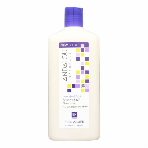Andalou Naturals Full Volume Shampoo Lavender and Biotin - 11.5 fl oz Perspective: front