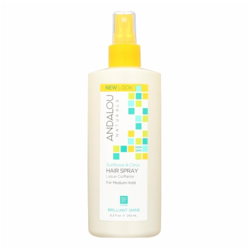 Andalou Naturals Perfect Hold Hair Spray Sunflower and Citrus - 8.2 fl oz Perspective: front