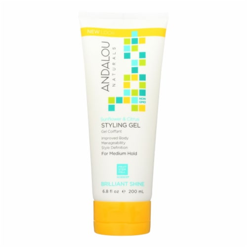Andalou Naturals Medium Hold Styling Gel Sunflower and Citrus - 6.8 fl oz Perspective: front