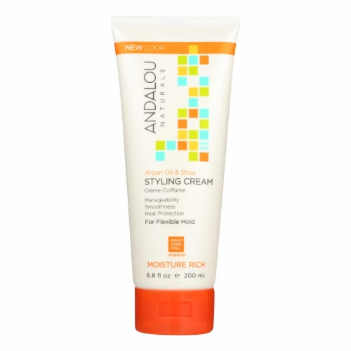Andalou Naturals Argan Oil and Shea Styling Cream - 6.8 fl oz Perspective: front