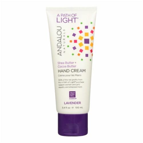 Andalou Naturals Hand Cream Lavender Shea - 3.4 fl oz Perspective: front