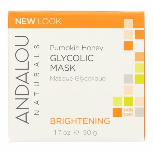 Andalou Naturals Glycolic Brightening Mask Pumpkin Honey - 1.7 fl oz Perspective: front