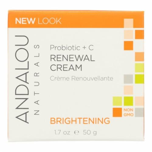 Andalou Naturals Renewal Cream Brightening Probiotic plus C - 1.7 fl oz Perspective: front