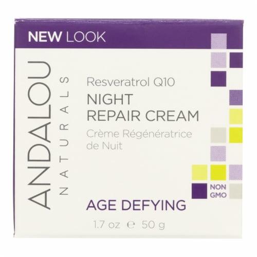 Andalou Naturals Resveratrol Q10 Night Repair Cream - 1.7 fl oz Perspective: front
