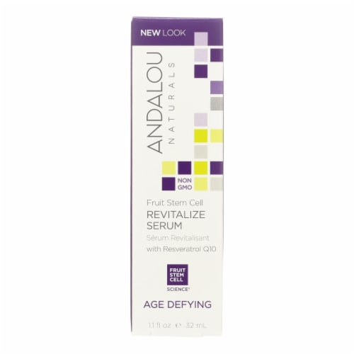 Andalou Naturals Age Defying Revitalize Serum Fruit Stem Cell - 1.1 fl oz Perspective: front