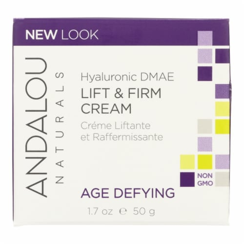 Andalou Naturals Age-Defying Hyaluronic DMAE Lift and Firm Cream - 1.7 fl oz Perspective: front