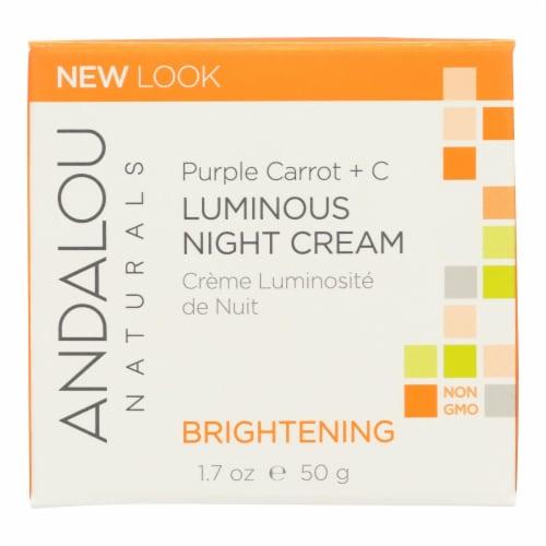 Andalou Naturals Luminous Night Cream Purple Carrot + C - 1.7 oz Perspective: front