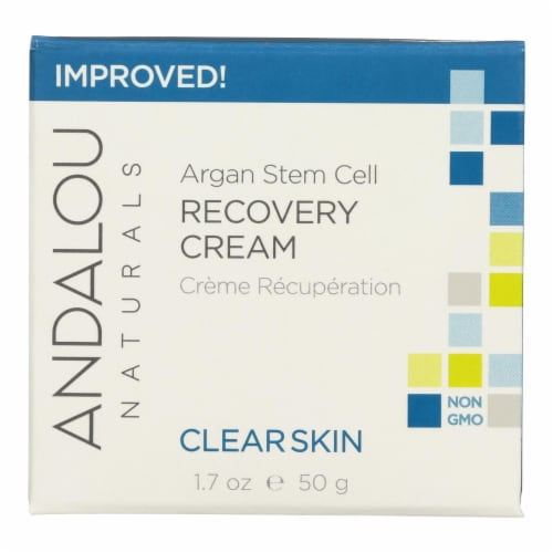 Andalou Naturals Clarifying Clear Overnight Recovery Cream - 1.7 fl oz Perspective: front