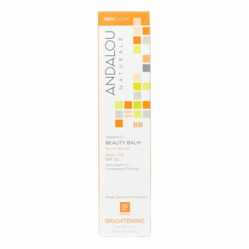 Andalou Naturals Beauty Balm Sheer Tint with SPF 30 Brightening - 2 oz Perspective: front