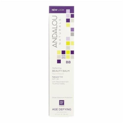 Andalou Naturals Skin Perfecting Beauty Balm - Natural Tint SPF 30 - 2 oz Perspective: front