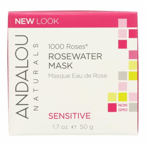 Andalou Naturals Rosewater Mask - 1000 Roses - 1.7 oz Perspective: front