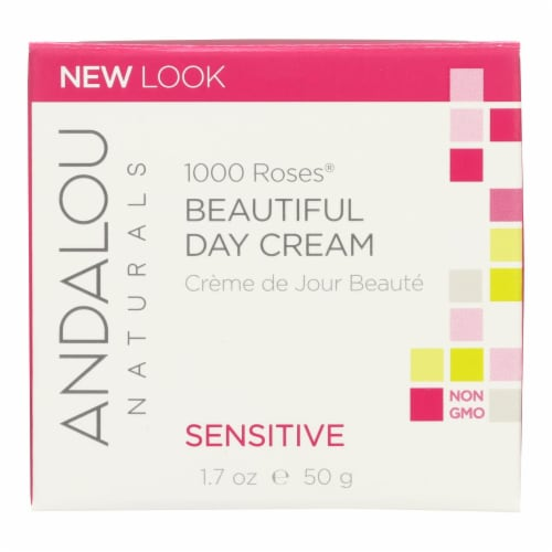 Andalou Naturals Beautiful Day Cream - 1000 Roses - 1.7 oz Perspective: front