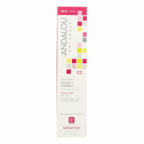 Andalou Naturals Color plus Correct - Sheer SPF 30 - Nude - 2 oz Perspective: front