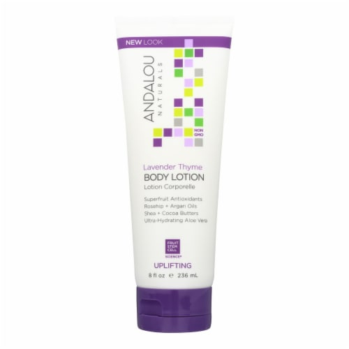 Andalou Naturals Body Lotion - Lavender Thyme Refreshing - 8 fl oz Perspective: front