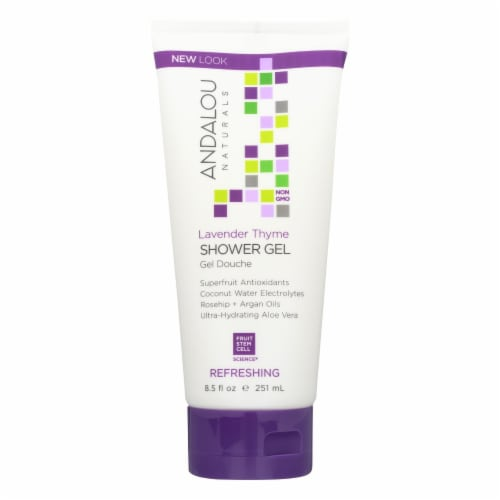 Andalou Naturals Shower Gel - Lavender Thyme Refreshing - 8.5 fl oz Perspective: front