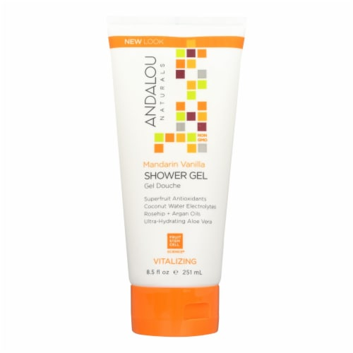 Andalou Naturals Shower Gel - Mandarin Vanilla Vitalizing - 8.5 fl oz Perspective: front