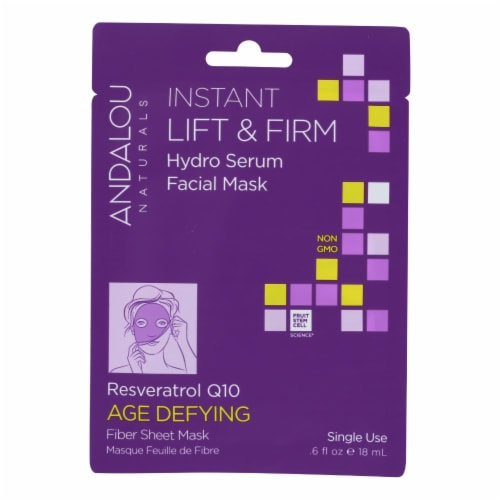 andalou Naturals Instant Lift & Firm Facial Mask - Age Defying - Case of 6 - 0.6 fl oz Perspective: front