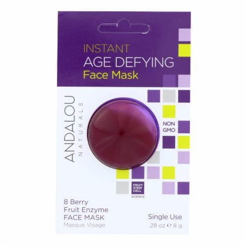 andalou Naturals Instant Age Defying Face Mask - 8 Berry Fruit Enzyme - Case of 6 - 0.28 oz Perspective: front