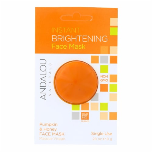 andalou Naturals Instant Brightening Face Mask - Pumpkin & Honey - Case of 6 - 0.28 oz Perspective: front