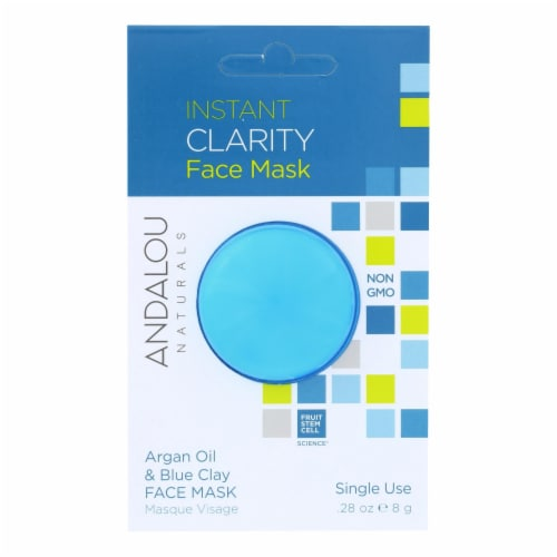 andalou Naturals Instant Clarity Face Mask - Argan Oil & Blue Clay - Case of 6 - 0.28 oz Perspective: front