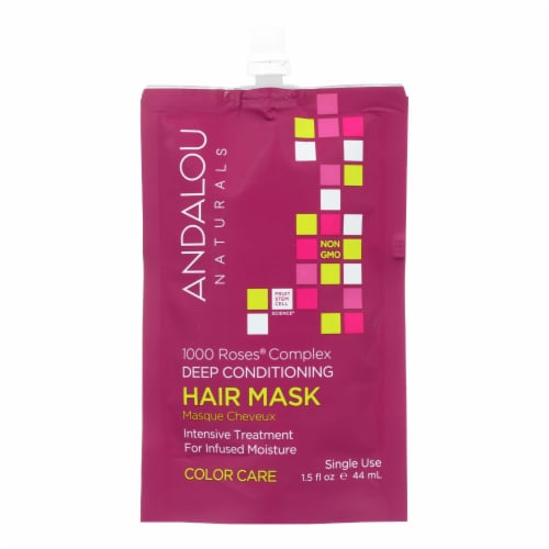 Andalou Naturals Color Care Deep Conditioning Hair Mask 1000 Roses Complex-Case of 6-1.5 floz Perspective: front