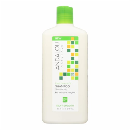 andalou Naturals Silky Smooth Shampoo - Exotic Marula Oil - 11.5 fl oz Perspective: front