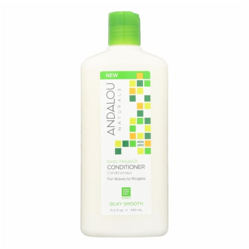 andalou Naturals Silky Smooth Conditioner -Exotic Marula Oil - 11.5 fl oz Perspective: front