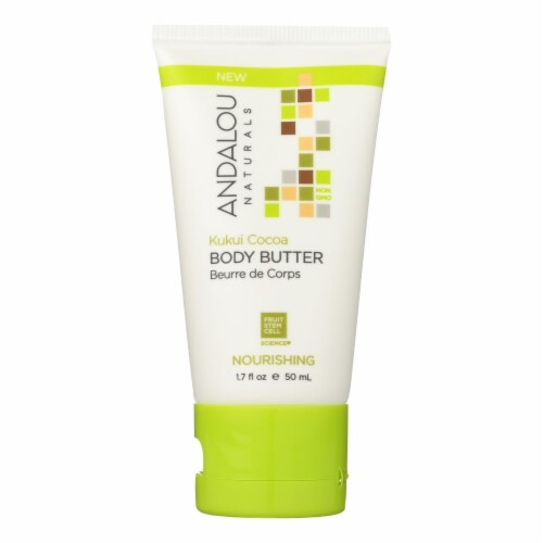 Andalou Naturals Lotion - Kukui Cocoa - Case of 6 - 1.7 fl oz. Perspective: front