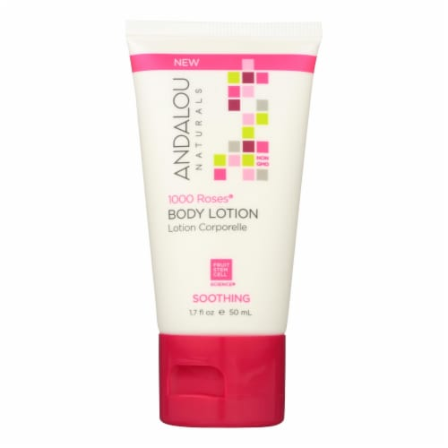 Andalou Naturals Lotion - 1000 Roses - Case of 6 - 1.7 fl oz. Perspective: front