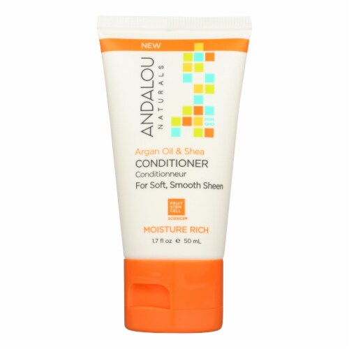 Andalou Naturals Conditioner - Argan Oil and Shea - Case of 6 - 1.7 fl oz. Perspective: front