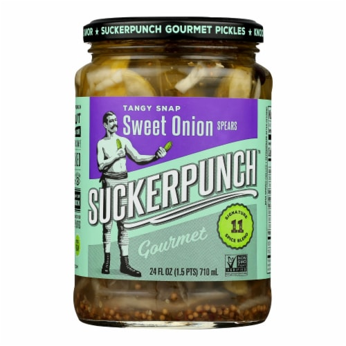Suckerpunch Sweet Onion Spears Gourmet Pickles - Case of 6 - 24 FZ Perspective: front