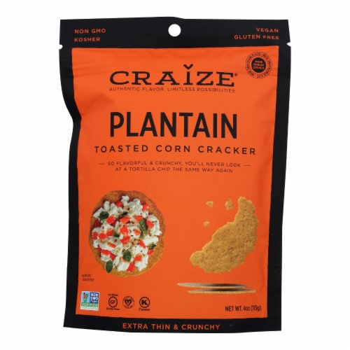 Craize - Corn Crisps Plantain Toasted - Case of 6 - 4 OZ Perspective: front
