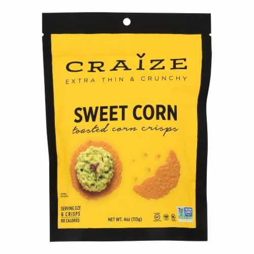 Craize - Corn Crisps Sweet Toasted - Case of 6 - 4 OZ Perspective: front