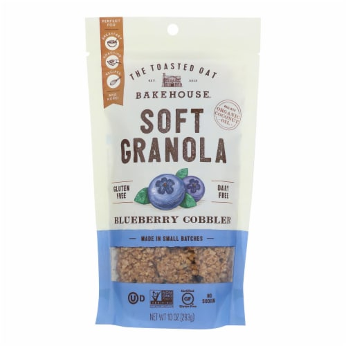 The Toasted Oat Bakehouse. Soft Granola Blueberry Cobbler - Case of 6 - 10 OZ Perspective: front