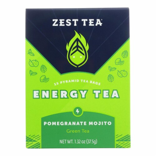 Zest Tea - Green Tea - Pomegranite Mojito - Case of 6 - 1.32 oz. Perspective: front