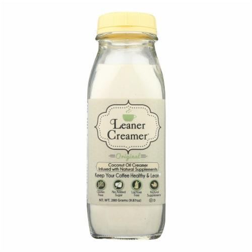 Leaner Creamer Original Coconut Oil Coffee Creamer Perspective: front