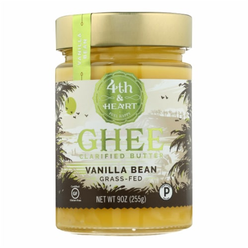 4th and Heart - Ghee Butter - Madagascar Vanilla Bean - Case of 6 - 9 oz. Perspective: front