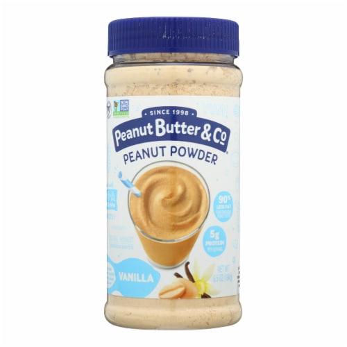 Peanut Butter and Co Mighty Nut Powdered - Vanilla - Case of 6 - 6.5 oz. Perspective: front