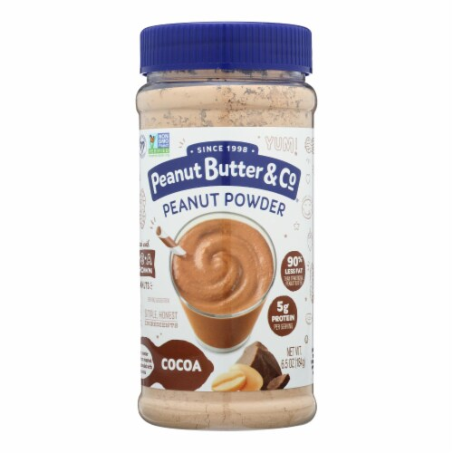 Peanut Butter and Co Mighty Nut Powdered - Chocolate - Case of 6 - 6.5 oz. Perspective: front