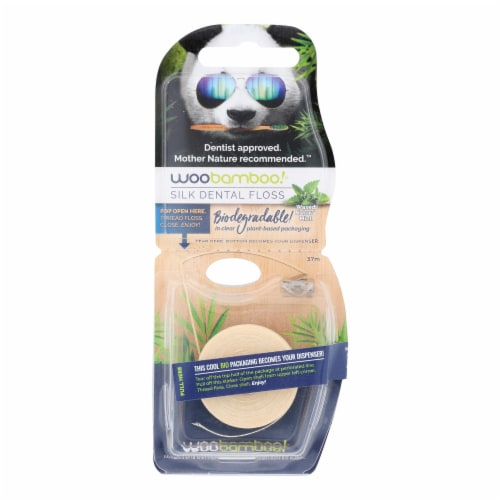 Woobamboo! Mint Dental Floss  - Case of 6 - CT Perspective: front