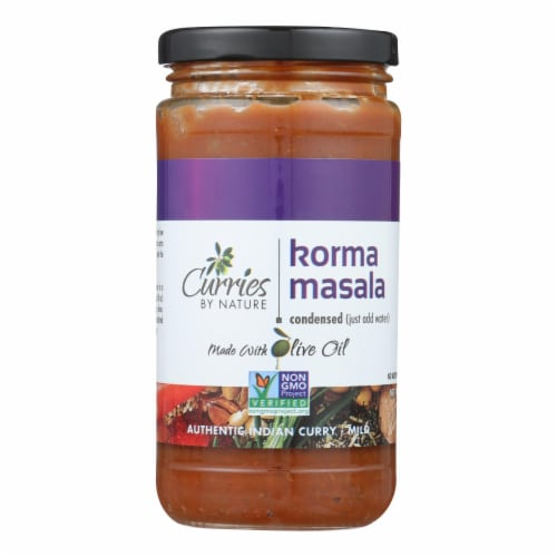 Curries By Nature Indian Curry Korma Masala - Case of 6 - 12 OZ Perspective: front