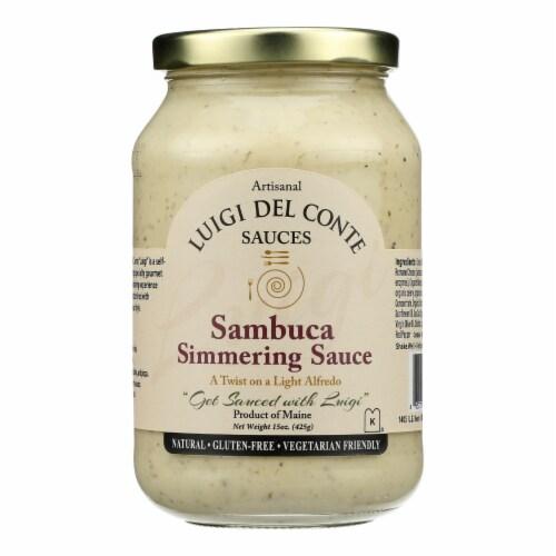 Luigi Del Conte Sauces Sambuca Simmering Sauce - Case of 6 - 15 OZ Perspective: front