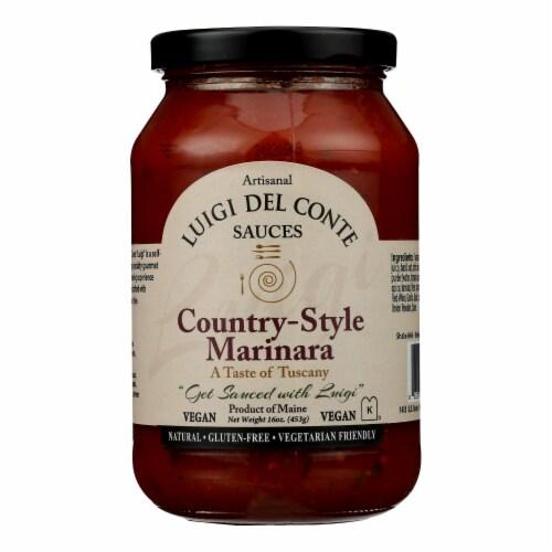 Luigi Del Conte Sauces - Sauce Marinara Cntry Styl - Case of 6 - 16 OZ Perspective: front