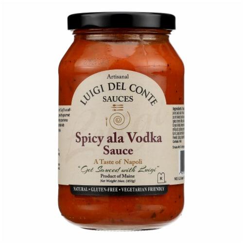 Luigi Del Conte Sauces - Sauce Spicy Ala Vodka - Case of 6 - 16 OZ Perspective: front
