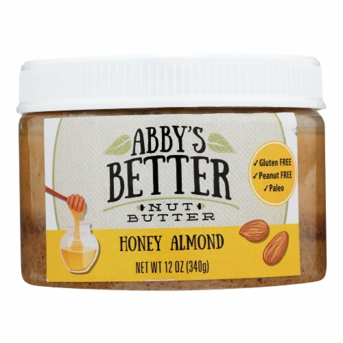 Abby's Better Nut Butter - Honey Almond Nut Butter - Case of 6 - 12 oz. Perspective: front