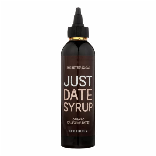 Just Date Syrup 100% Organic California Dates Syrup - Case of 6 - 8.8 OZ Perspective: front